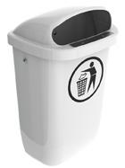 Afvalbak DIN-PK wit - 50 liter