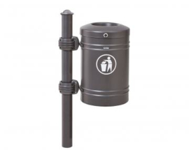 Afvalbak Procity met Agora top staal - 40 liter