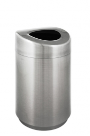 Afvalbak grote capaciteit mat RVS - 120 liter