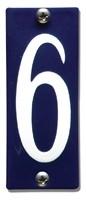 Emaille huisnummerbord HK-B6 40x100mm