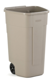 Mobiele container Rubbermaid beige - 110 liter