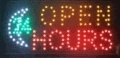 LED bord 480x250x22mm 24 HOURS OPEN