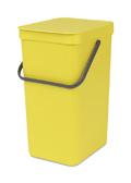 Afvalemmer Sort & Go, Brabantia geel - 16 liter