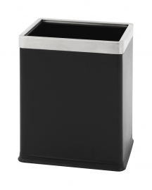 Dubbelwandige papierbak, rechthoekig zwart  - 10 liter