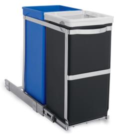 Pull-out Recycler Bin, Simplehuman - 1 x 15 en 1 x 20 liter