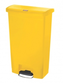 Slim Jim Step On container Front Step kunststof, Rubbermaid geel - 68 liter