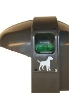 Afvalbak Cibeles met cassette hondenpoepzakjes - 50 liter