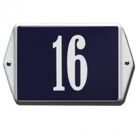 Emaille huisnummerbord model HO-44 160x120mm