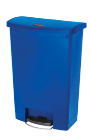 Slim Jim Step On container Front Step kunststof, Rubbermaid blauw - 90 liter