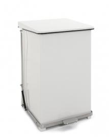 Industriële pedaalemmer wit - 152 liter