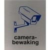 RVS pictogram camerabewaking 100x120mm