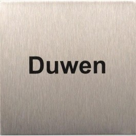RVS pictogram duwen vierkant 80mm
