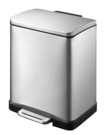 E-Cube pedaalemmer, mat RVS - 12 liter