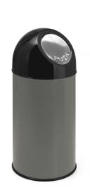 Afvalbak met pushdeksel metallic - 40 liter