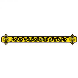 Vloersticker 'Houd voldoende afstand' - Lijn - Verwijderbaar - 20 x 100 cm ( set 10 stuks )