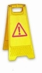 Waarschuwings klapbord 330x320x640mm geel gevaar
