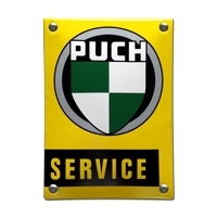Emaille bord Puch Service 100x140mm