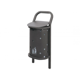 Afvalbak Conviviale staal - 50 liter