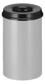 Vlamdovende papierbak aluminiumgrijs/ zwart - 20 liter