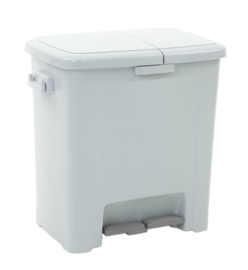 Pedaalemmer Divided Dustbin - 1 x 20 en 25 liter