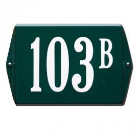 Emaille huisnummerbord model HO-34 160x120mm