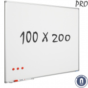 Whiteboard 1000x2000mm magnetisch emaille pro