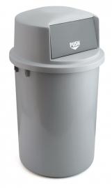 Kunststof afvalbak met klapdeksel - 126 liter