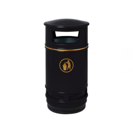 Afvalbak Morvan zwart - 90 liter