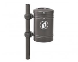 Afvalbak Procity met RVS top staal - 40 liter