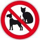 Verbodsbord honden en katten