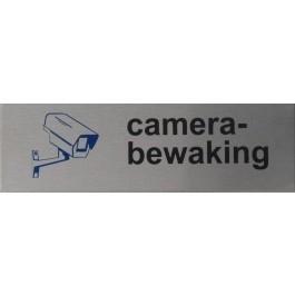 RVS pictogram camerabewaking 150x45mm