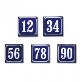 Emaille huisnummerborden standaard
