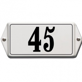 Emaille huisnummerbord model HO-40 200x100mm