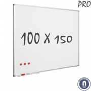Whiteboard 1000x1500mm magnetisch emaille pro