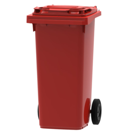 Mini container rood - 120 liter
