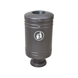 Afvalbak Procity staal op aluminium poot - 60 liter