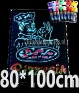 LED schrijfbord 800x1000mm met 90 LED functies