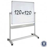 Whiteboard 1200x1200mm dubbelzijdig magnetisch verrijdbaar