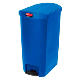Slim Jim Step On container End Step kunststof, Rubbermaid blauw - 68 liter