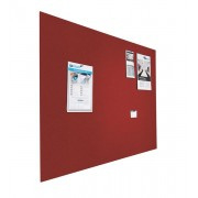 Prikbord bulletin 900x1200mm rood zwevend