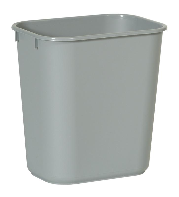Rechthoekige afvalbak  grijs, Rubbermaid - 12,9 liter