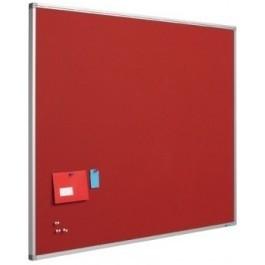 Prikbord bulletin 1200x2400mm rood
