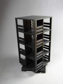 Gerari's Moderne Eiken zwarte boekenmolen 4 etages Blad 55 cm