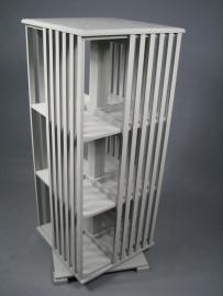 Warm grijze boekenmolen voor grote boeken 4 etages customised