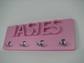 Kapstokje met tekst JASJES Roze