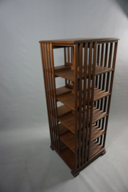Hoge Eiken boekenmolen 'in kleur' 5 etages Blad 55cm