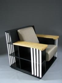 Zwarte Bookchair 'accent' wit