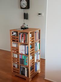 Gerari's Moderne Eiken boekenmolen 4 etages Blad 55 cm