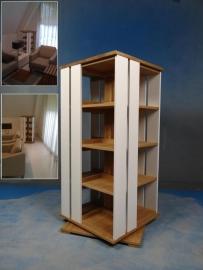 Trendy Boekenmolen 2-4 etages met 2 vlaks zijvlakken Blad 55 cm