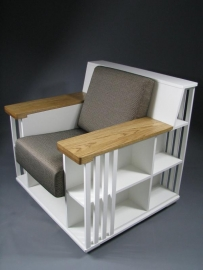 Witte Bookchair 'accent' wit